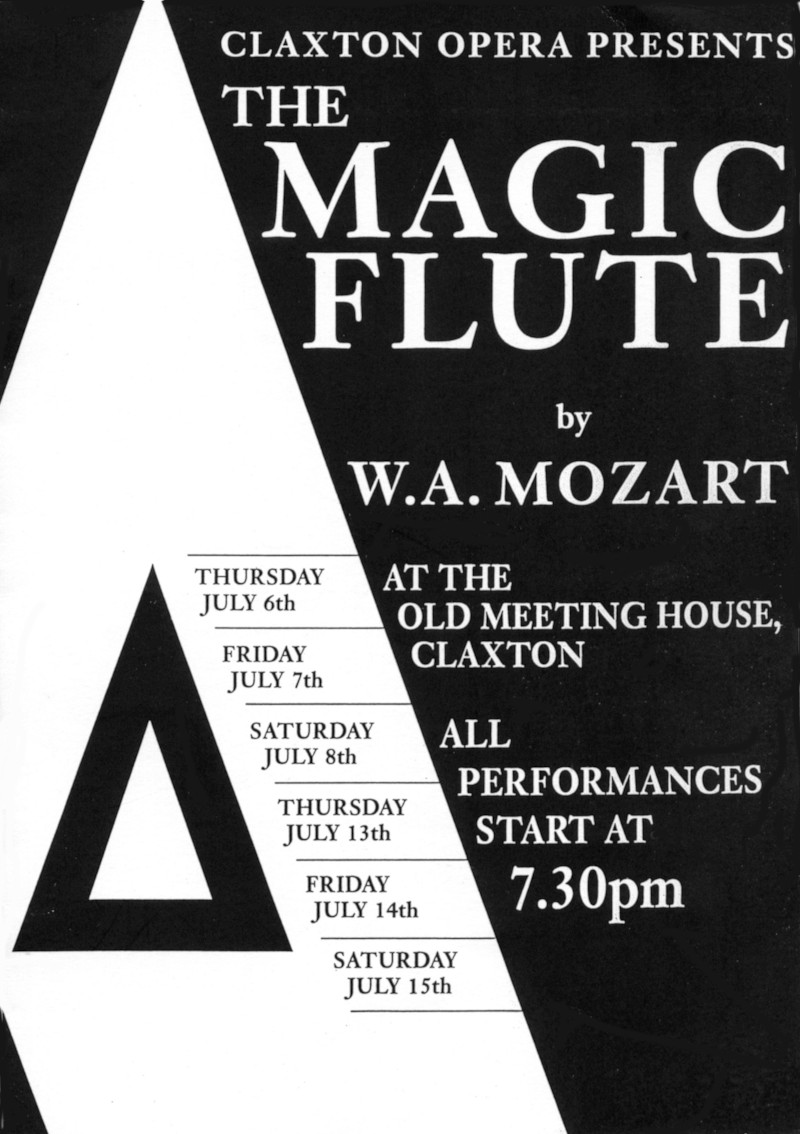 Magic Flute Programme Cover